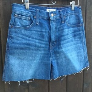 NWT! Madewell The Perfect Jean Short, high waisted